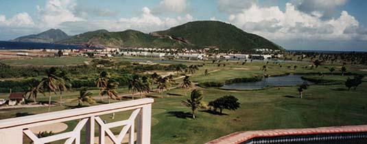 Panoramic view from Half moon villas
