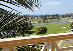 View of golf course from verandah